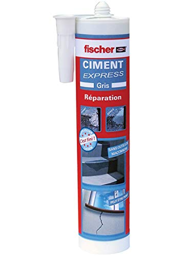 fischer - Ciment Express gris - ciment prêt à lemploi / 1 cartouche de 310ml