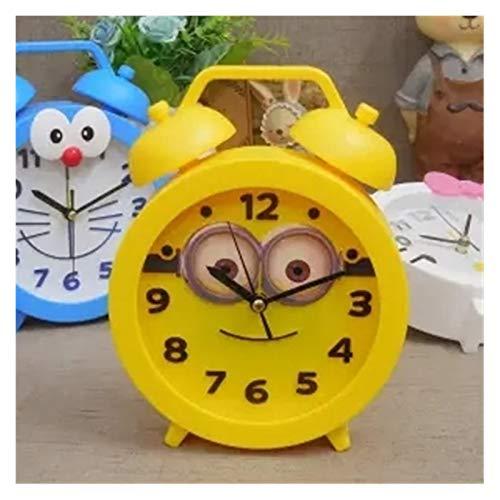 XIAOBMY Alarma Reloj Dibujos Animados Reloj Despertador Oso Gato Moda Temporal Alarma Cuarzo Reloj Estudiante Estudiante Hombres Mujeres niños Regalos para niños (Color : Yellow)