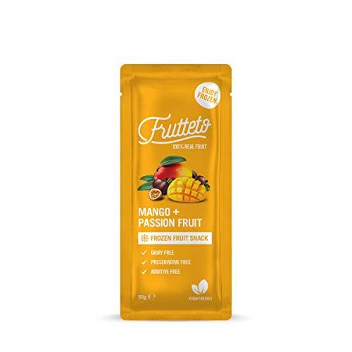 Frutteto 100% frutta, Da Congelare a Casa. Mango & Frutto Della Passione, Senza Conservanti, Senza Coloranti, Senza Acqua Aggiunta. 100% Naturale 50g x 20 [1000 g]