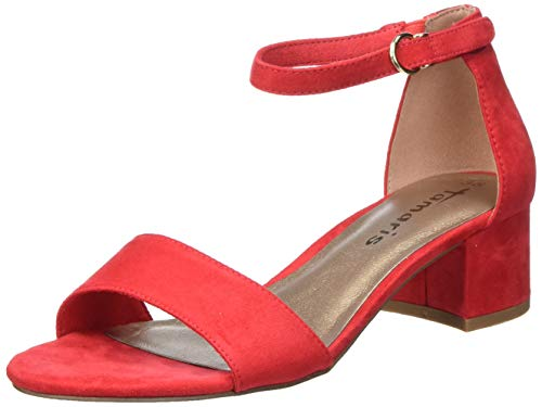 Tamaris Damen 1-1-28201-24 Riemchensandalen, Orange (FIRE 686), 40 EU