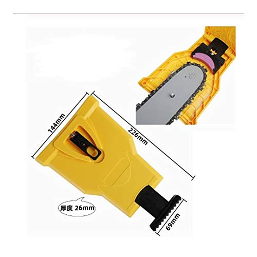 SSGLOVELIN Affila Motosega Motosega affilatura System Tool abrasivo Attrezzi dei Denti di Sega a Catena Temperino Temperino Chainsaw Denti Sharpener (Color : Yellow)