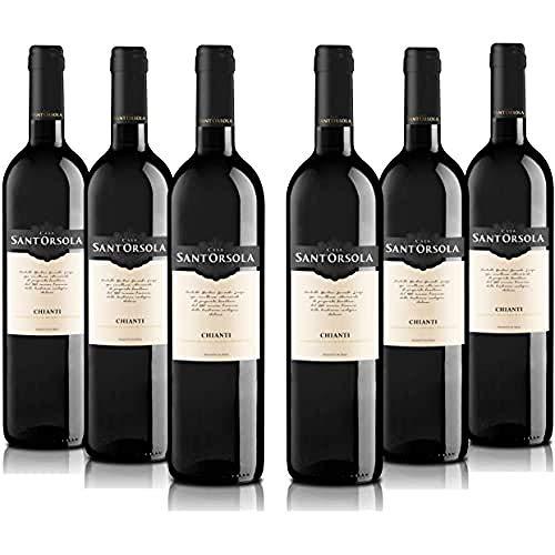 Sant'Orsola Chianti D.O.C.G. Rotwein 6 Flaschen Sangiovese trocken (6 x 0.75 l)