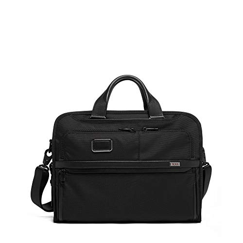 TUMI - Alpha 3 Organizer Portfolio Bag - Briefcase for Men and Women - Black