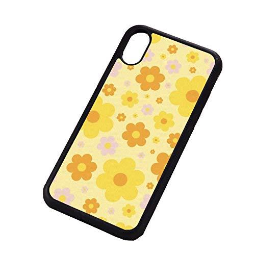 RosyClouds Funda para iPhone 7 8 Plus X XS Max XR 11 12 Mini Pro Silicona Suave TPU Flor Amarilla para iPhone 8 Plus