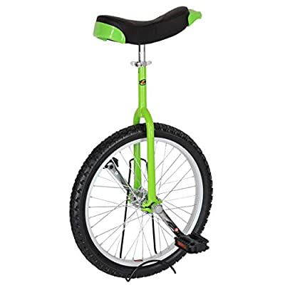 T4B Freestyle Unicycle 20-Inch Wheel - Leakproof Butyl Wheel Tire - Outdoor Sports Fitness Exercise Health - Green