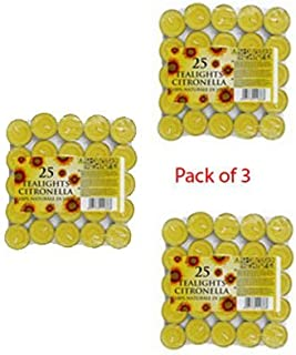 Prices Citronella Tealights Candle (pack of 25 x 3 = 75 Candle) - 016668 x 3