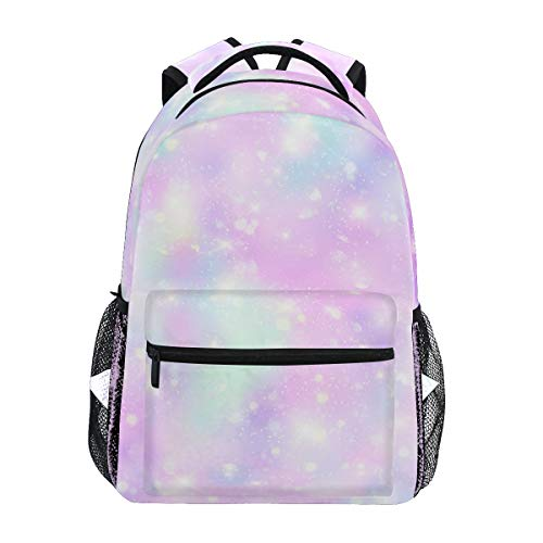Mädchen Einhorn-Rucksäcke für die Schule, Pink / Cremefarben Einhorn Magic Star Bookbags für Kinder Teenager Kleinkind Fashion Daypack Rucksack Reise Laptop Tasche A009 Large