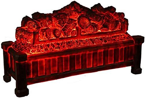 Chimenea eléctrica ornamental,chimenea de carbón desnudo,sin calentador de calefacción,estufa decorativa LED con llama ardiente simulada en 3D.Chimenea electrónica con efecto de combustión de