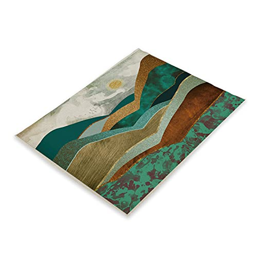 Mantel Individual De La Serie Mountain Sunset Espesado Mantel Impermeable Y A Prueba De Aceite Mantel Adecuado para Restaurante Cafetería Hogar