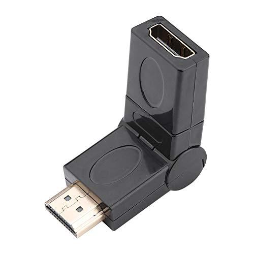 Richer-R HDMI Adapter, 360-Grad Drehung Full HD HDMI Stecker auf Buchse Konverter,Flexibel HDMI Winkelstecker HDMI Winkel Adapter für TV Stick HDTV Receiver Schwarz