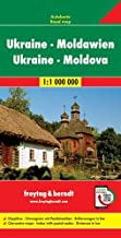 Ucrania-Moldavia, mapa de carreteras. Escala 1:1.000.000. Freytag & Berndt.: Wegenkaart 1:1 000 000 (Auto karte)