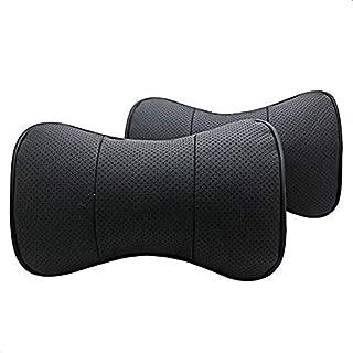 SZSS-CAR 2 Pcs Genuine Leather Bone-Shape Car Seat Neck Rest Headrest Comfortable Pillow Cushion for Honda Acura ILX MDX RDX RL
