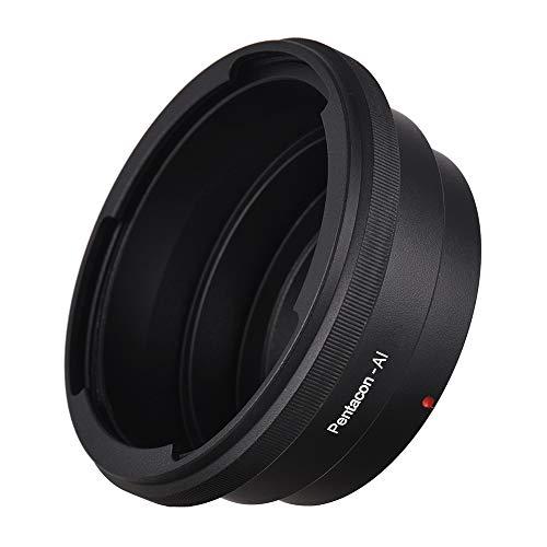 Zwbfu Adaptador de Montaje de Lente para Pentacon 6 Kiev 60 Lentes para Adaptarse a AI F Montaje de Cuerpo de cámara para D90 D300 D700 D3200 D5100 D7100 D7000