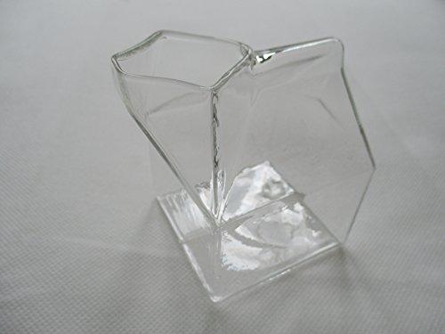 【フリー スタイル】 牛乳パック型 ミルクピッチャー ガラス製 7×7×9.5cm