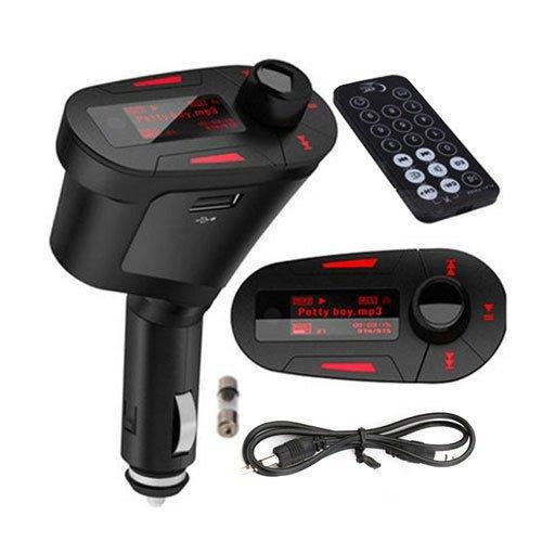 Red Light LCD Car Kit Mp3 Player Wireless Fm Transmitter Modulator LCD USB Sd MMC W/remote Control Car Mp3 Fm Pen Drive