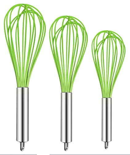 3 Pack Very Sturdy Kitchen Whisk