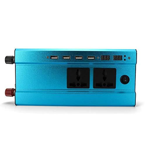 NA Inversor de energia 12V / 24V DC a 220V AC convertidor Cargador 1000W / 500W 4USB Interfaz Solar Power Inverter (Voltage and Power Watts: : 12V to 220V 1000W)
