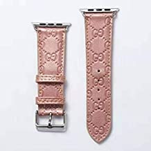 The ONE 38 Compatible Apple Watch Straps 38mm (fit for 40mm), Luxury Fashion PU Leather Classic Wrist Bands for Women and Men, Replacement for 38/40MM Apple Watch Series 4 3 2 1 (Rose Gold)