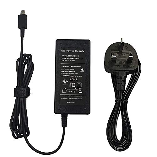 BOLWEO 12V 2A 24W Charger AC Adapter Power Supply for ASUS Chromebook Flip C100 C100P C100PA C201 C201P C201PA Convertible Touchscreen,UK Plug