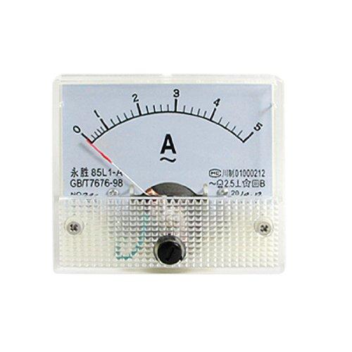 sourcing map 85L1-A Klasse 2.5 Genauigkeit AC 5A Analoge Anzeige Amperemeter Strommessgerät