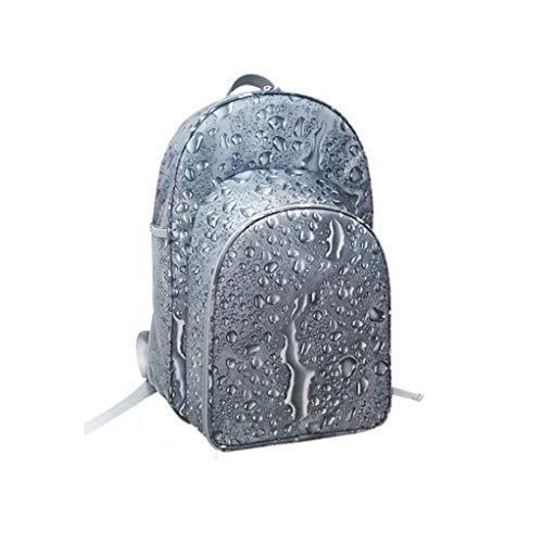 ZWW Sac de Pique-Nique à épaule à l'époque extérieure pour 2 Personnes avec Vaisselle Panier de Pique-Nique réfrigéré Portable Thermos (Taille : Water Drop)