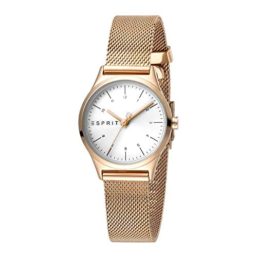 Esprit Damen Analog Quarz Uhr mit Edelstahl Armband ES1L052M0075