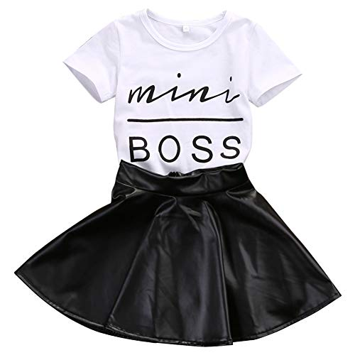 Toddler Baby Little Girls Fashion Clothes Mini Boss Shirt Tops