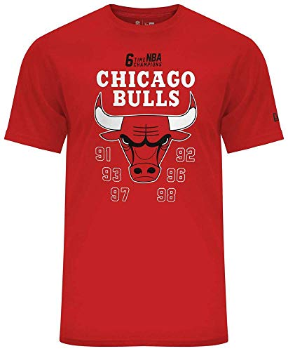 New Era NBA Team Champion tee Chibul Camiseta, Hombre, Red, S