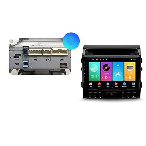 Android 10.0 Car Stereo 2 DIN Radio para T-oyota Land Cruiser 2007-2015 Navegación GPS Unidad Principal de 10 '' Reproductor Multimedia MP5 Receptor de Video con 4G / 5G WiFi Carplay