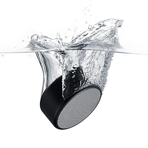 VIMUKUN EF-02, Small Portable Bluetooth Speaker IP67 Waterproof Dustproof Mini Speakers with Bassup Wireless Pairing for Home, Outdoors, Travel (Black)