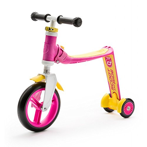 Scoot & Ride highwaybaby+ 2-in-1 Scooter & Balance Bike ,Ride On-Pink