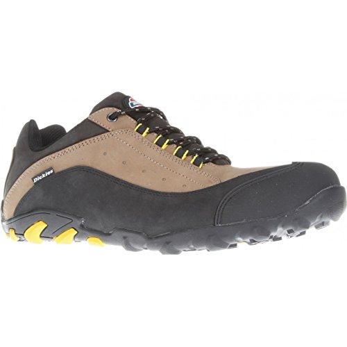 Dickies - Zapatillas de trabajo/Seguridad Laboral modelo Faxon para hombre (39 EU/Beige/Negro)