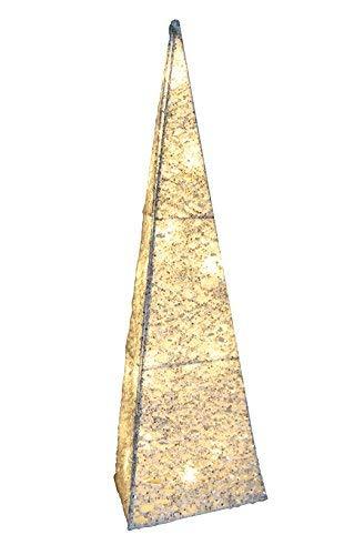 Weihnachtskegel LED warm 50 cm hoch mit 16 warm-weißen LEDs und transparentem Kabel
