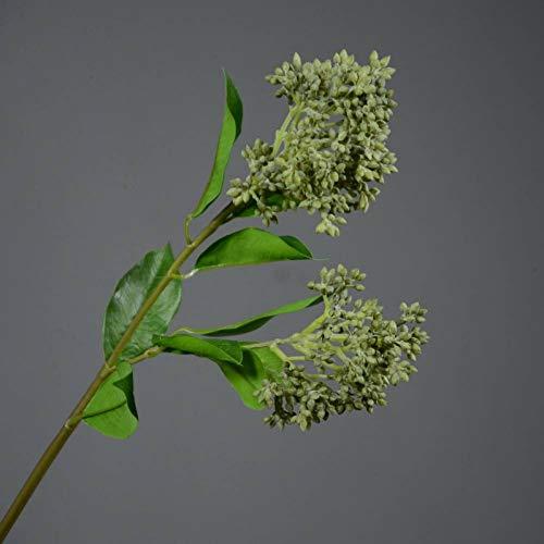 HYLZW Kunstmatige Bloem Plant Simulatie Groene Plant Bloem Arrangement Bijpassende Simulatie Kunststof Nep Bloem Zachte Rubber Fruit Bonen Kruidnagel Branch