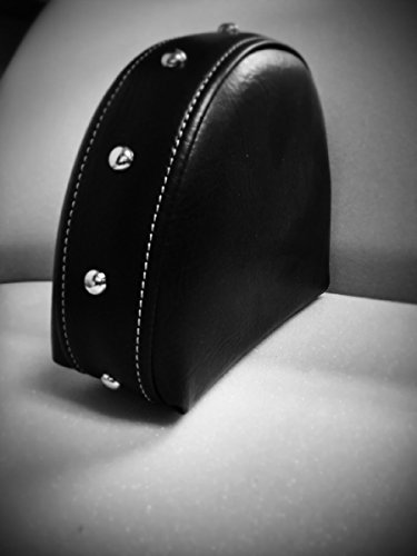 Grasshopper Limited Drivers Backrest for Indian Chief or Roadmaster Black 100% American Made, Quick Release Studded Includes Mounting Bracket