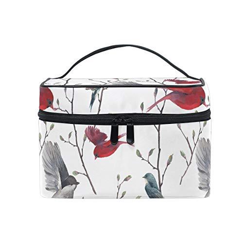 Ahomy Trousse de toilette portable avec poignée Motif branches et fleurs