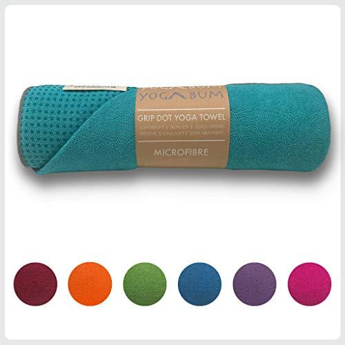 Yogabum Classic Collection Non-Slip Yoga Mat Towels (Aqua)