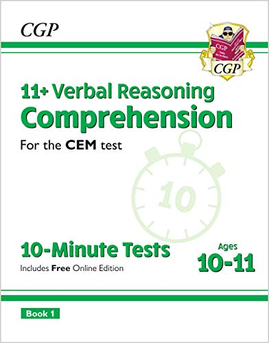 New 11+ CEM 10-Minute Tests: Comprehension - Ages 10-11 Book 1 (with Online Edition) (CGP 11+ CEM)