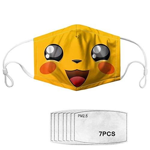 honfaido Pikachu impresión Kawaii niños niños Anti Smog