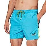 Superdry Beach Volley Swim Short Bermudas, Hawaii Blue, L para Hombre