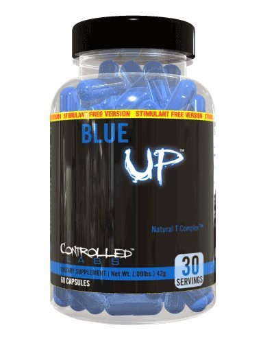 Controlled Labs Blue Up Stimulant-free Natural Testosterone Booster, 60-Count Bottle
