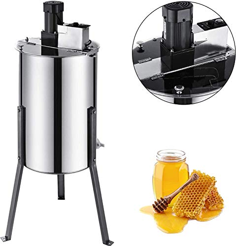 BestEquip 3 Frame Electric Extractor Stainless Steel Spinner Bee Honey Extraction Separator Beekeeping Equipment with Sta