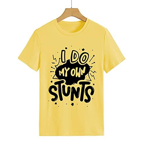 Hago mis propios trucos Lesiones de brazo roto Obtenga una camiseta de regalo muy pronto. (Color : Yellow, Size : L)