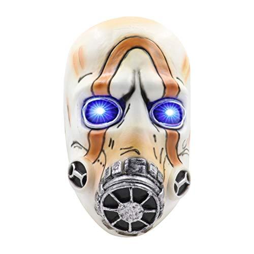 Spiel Borderlands 3 Psycho Cosplay Maske Latex Maske Tanzmaske Vollgesichtslatex LED-Licht Erwachsene Requisiten Kostüm