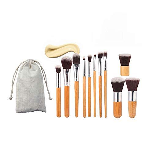 11 trousse de maquillage trousse de maquillage en pinceau avec poignée en bambou