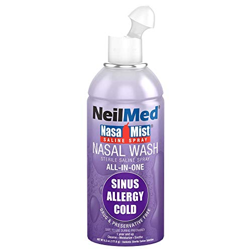 NeilMed NasaMist All in One Multi Purpose Saline Spray, 6 Fl Oz
