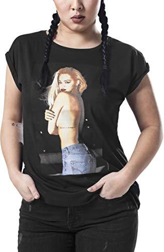 MERCHCODE Damen Rita Ora Topless Tee 1012_t-Shirt Kurzarm, Black, M