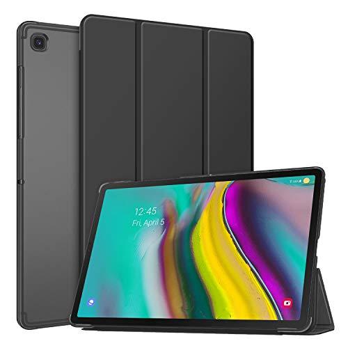 Fintie Hülle für Samsung Galaxy Tab S5e - Ultradünn Schutzhülle mit transparenter Rückseite Abdeckung Cover für Samsung Galaxy Tab S5e 10.5 Zoll SM-T720/T725 2019 Tablet, Schwarz