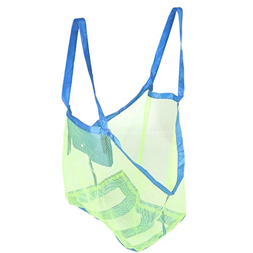 Bolsa de playa Sandbeach, bolsa de almacenamiento para la playa, resistente y duradera, lavable, difícil de ajustar, diseño de bolsa de playa de malla para guardar todos los juguetes de los