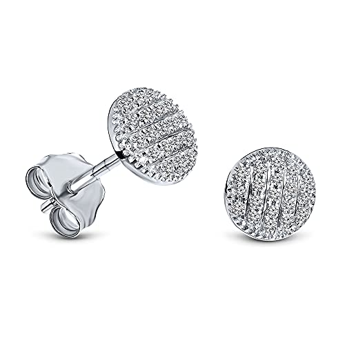 Miore Ohrringe Damen Ohrstecker Weißgold 9 Karat / 375 Gold Diamant Brillianten 0.11 ct